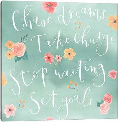 Chase Dreams Pattern VIB Canvas Art Print