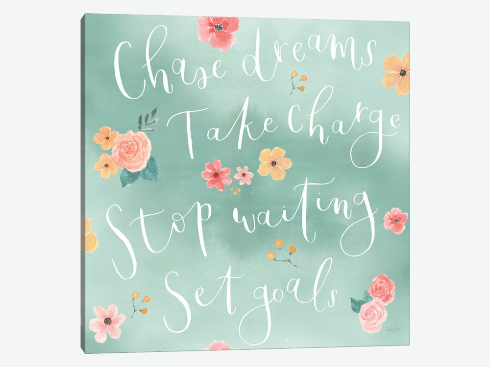Chase Dreams Pattern VIB by Jenaya Jackson 1-piece Canvas Wall Art