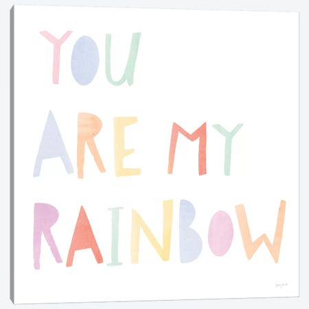 Lets Chase Rainbows X Canvas Print #JEJ90} by Jenaya Jackson Canvas Art Print