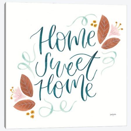Home Sweet Home I Canvas Print #JEJ99} by Jenaya Jackson Art Print