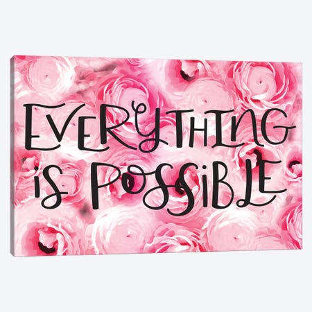 Everything Is Possible Canvas Print #JEK7} by Jean Kelly Canvas Art