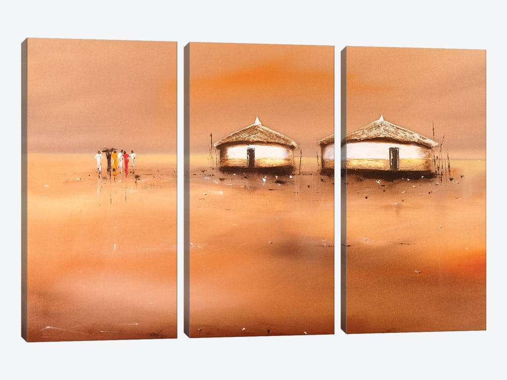 On The Waterfront III by Jan Eelse Noordhuis 3-piece Canvas Wall Art