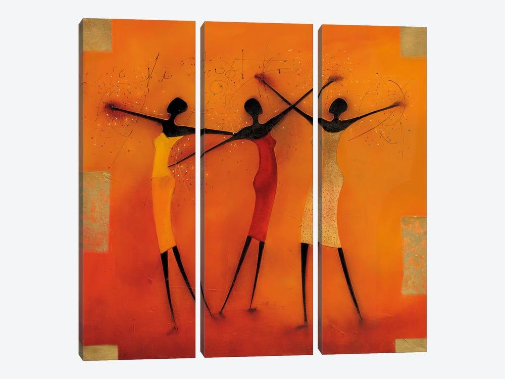 Feel Free I by Jan Eelse Noordhuis 3-piece Canvas Art Print