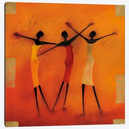 Feel Free I 3-Piece Canvas #JEN5} by Jan Eelse Noordhuis Canvas Art Print