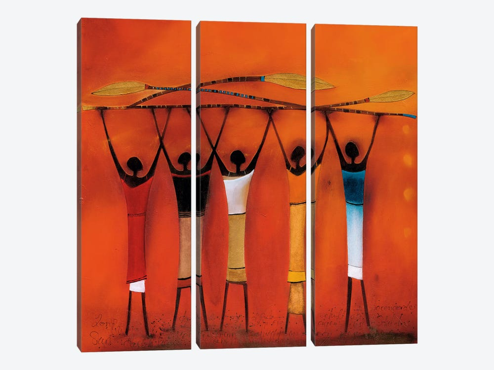 Feel Free II by Jan Eelse Noordhuis 3-piece Canvas Artwork