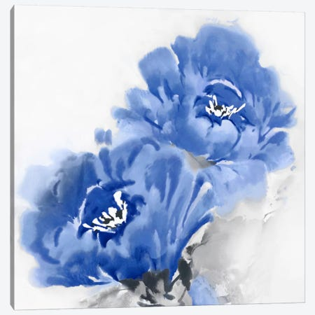 Flower Bloom In Indigo II Canvas Print #JES10} by Jesse Stevens Canvas Art