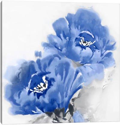 Flower Bloom In Indigo II Canvas Print #JES10