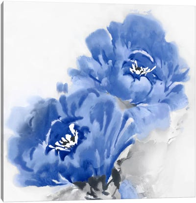 Flower Bloom In Indigo II Canvas Art Print