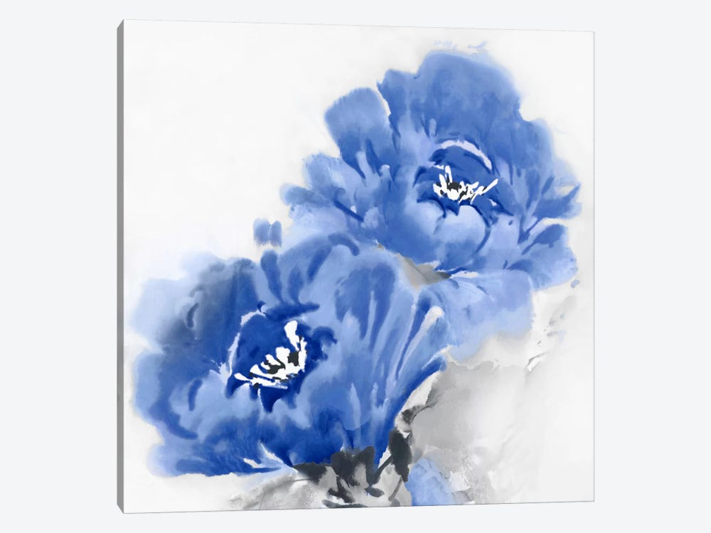 Flower Bloom In Indigo II by Jesse Stevens 1-piece Canvas Art Print