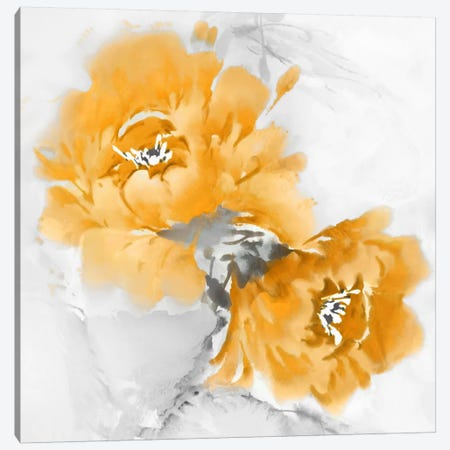 Flower Bloom In Mandarin I Canvas Print #JES11} by Jesse Stevens Canvas Wall Art