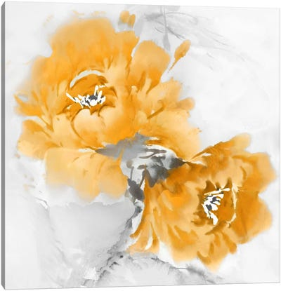Flower Bloom In Mandarin I Canvas Art Print