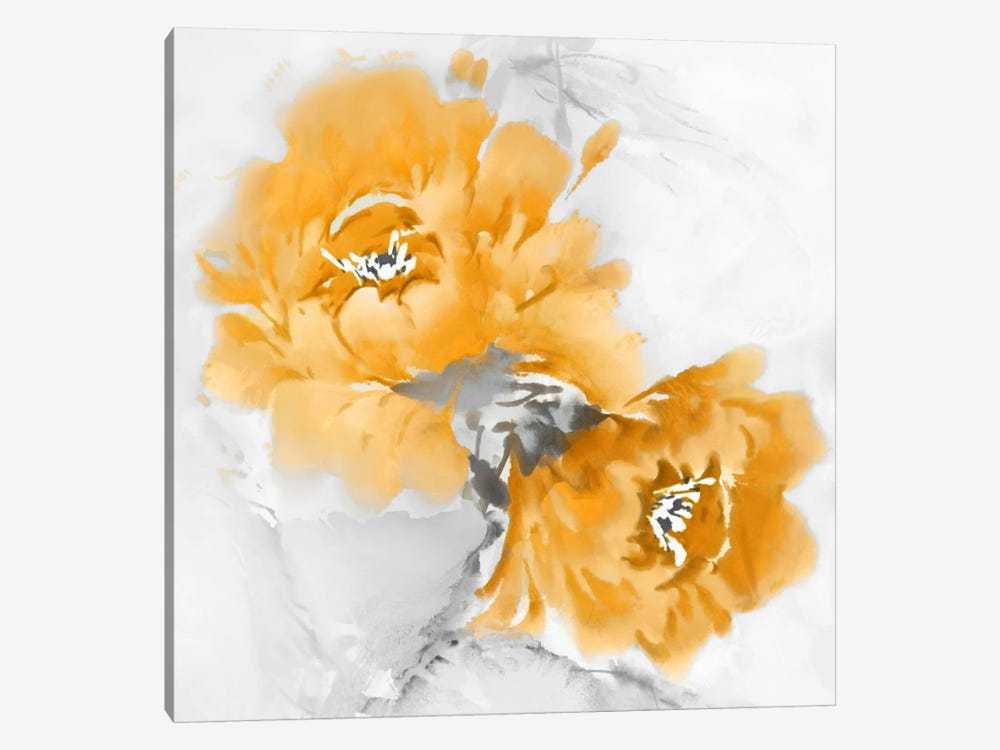 Flower Bloom In Mandarin I by Jesse Stevens 1-piece Canvas Artwork