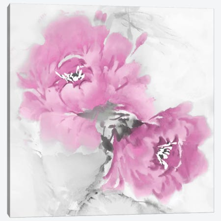 Flower Bloom In Pink I Canvas Print #JES13} by Jesse Stevens Canvas Wall Art