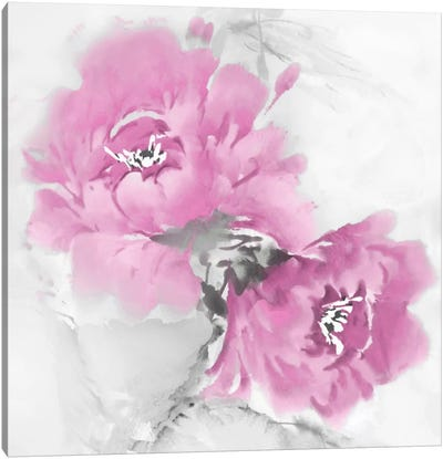 Flower Bloom In Pink I Canvas Art Print