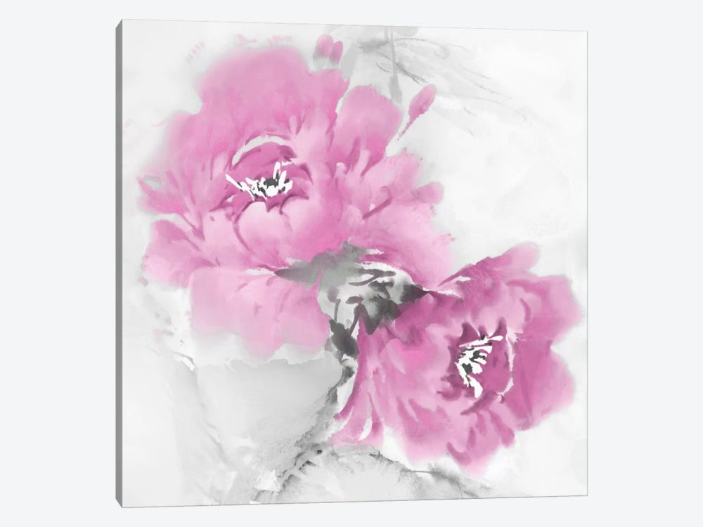 Flower Bloom In Pink I by Jesse Stevens 1-piece Canvas Art