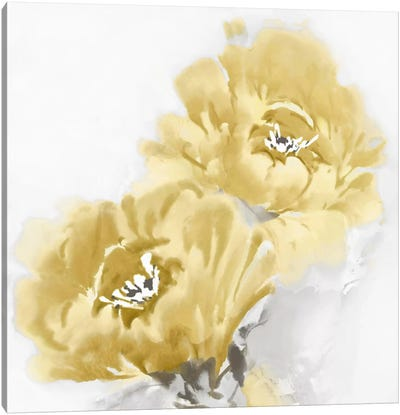 Flower Bloom In Yellow I Canvas Art Print