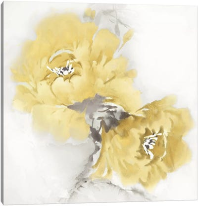 Flower Bloom In Yellow II Canvas Print #JES16
