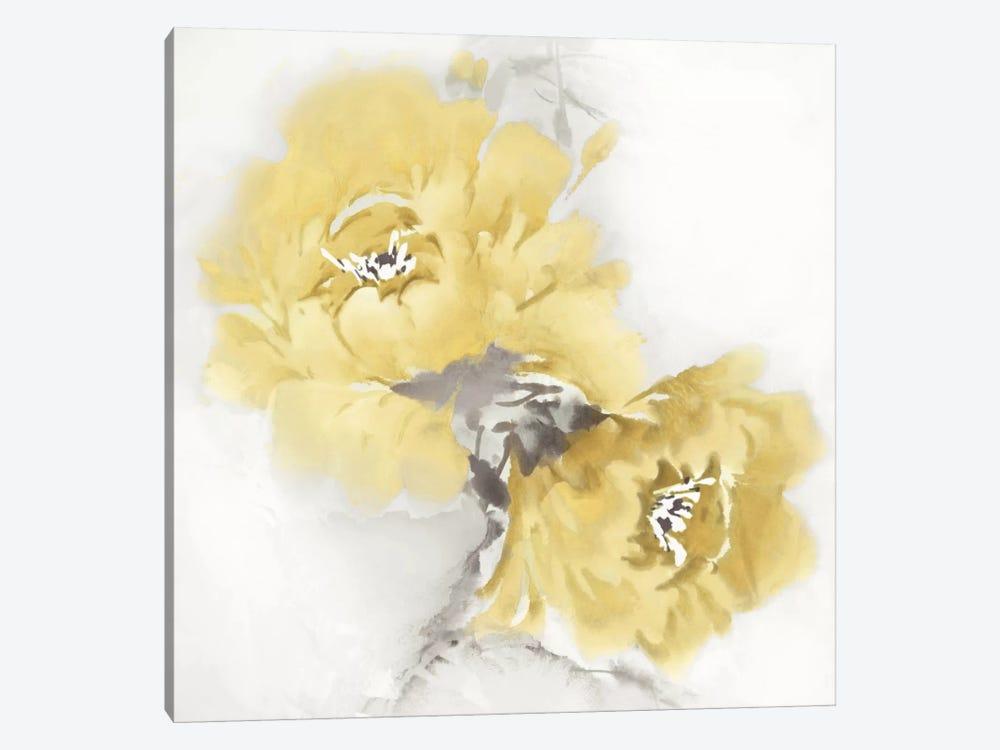 Flower Bloom In Yellow II Canvas Wall Art by Jesse Stevens   iCanvas