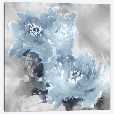 Flower Bloom On Silver I Canvas Print #JES19} by Jesse Stevens Canvas Wall Art