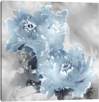 Flower Bloom On Silver I Canvas Art Print