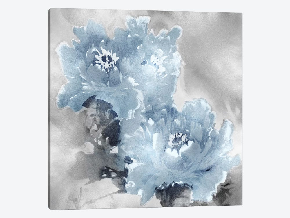 Flower Bloom On Silver I 1-piece Canvas Artwork
