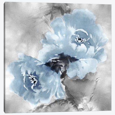 Flower Bloom On Silver II Canvas Print #JES20} by Jesse Stevens Art Print