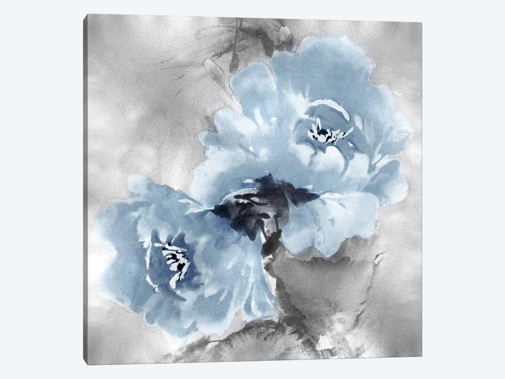 Flower Bloom On Silver Ii Canvas Wall Art By Jesse Stevens Icanvas