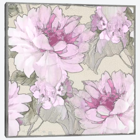 Earthly Delights In Pink I Canvas Print #JES3} by Jesse Stevens Canvas Art