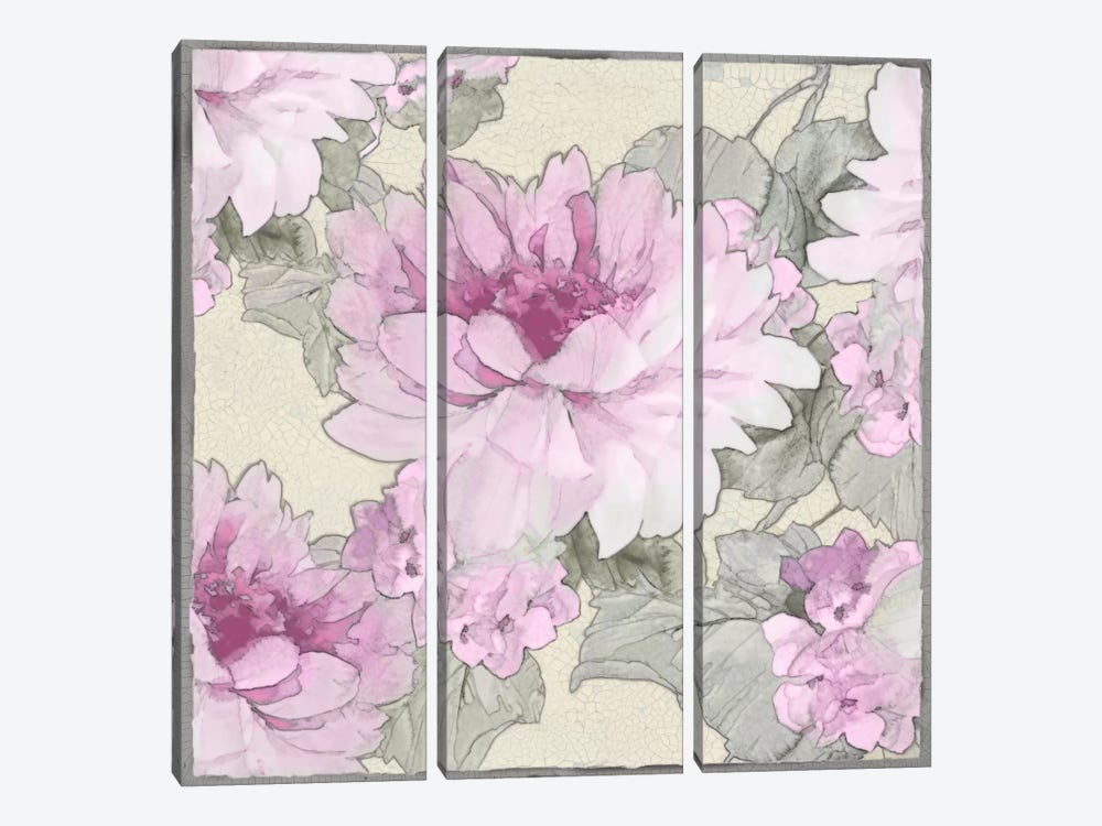 Earthly Delights In Pink II by Jesse Stevens 3-piece Art Print