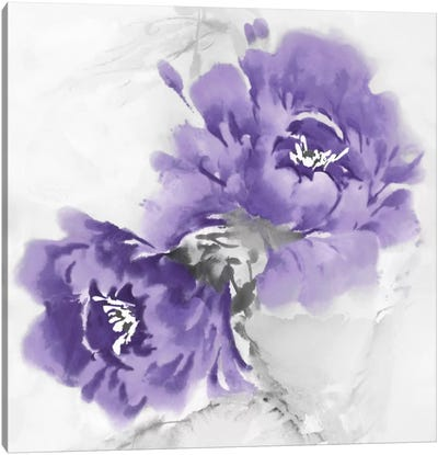 Flower Bloom In Amethyst II Canvas Art Print