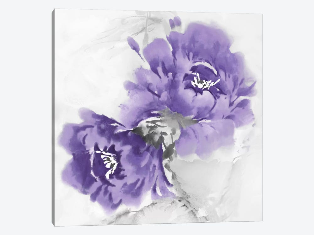 Flower Bloom In Amethyst II by Jesse Stevens 1-piece Art Print