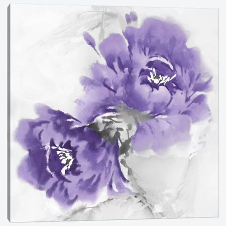 Flower Bloom In Amethyst II Canvas Print #JES6} by Jesse Stevens Canvas Print