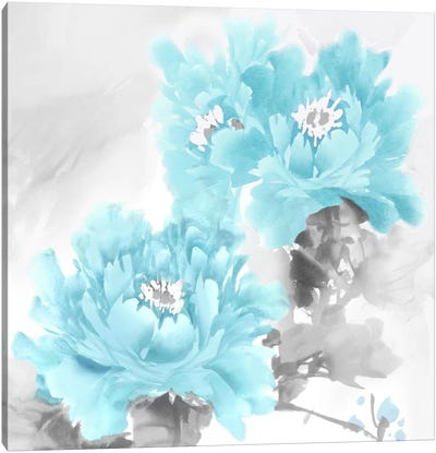 Flower Bloom In Aqua II Canvas Art Print