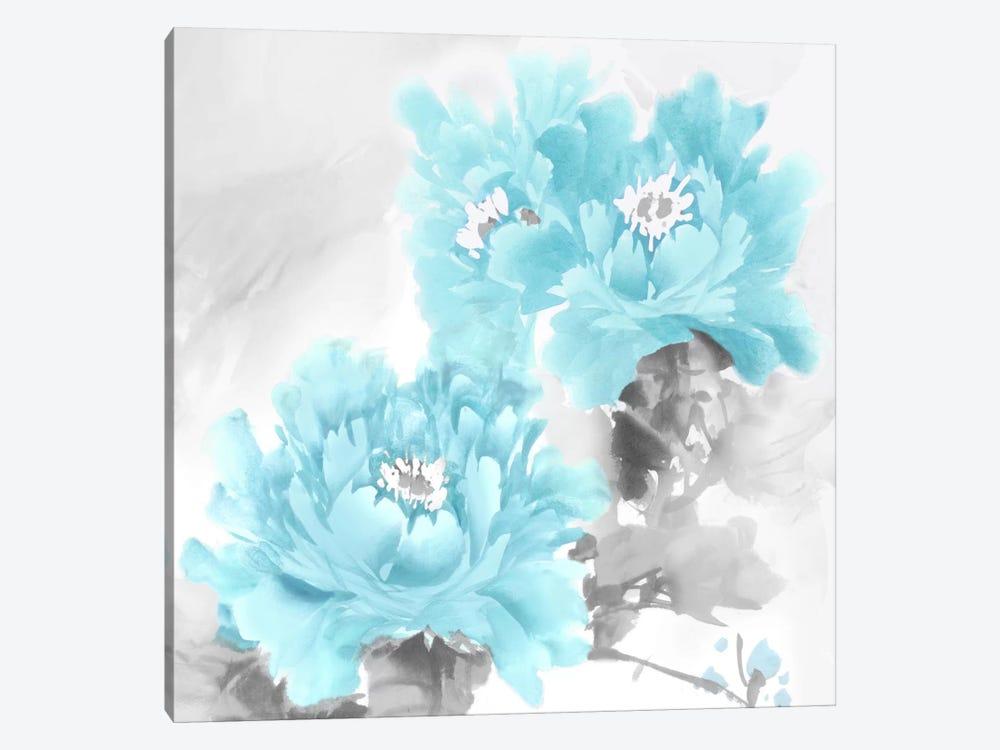 Flower Bloom In Aqua Ii Canvas Art By Jesse Stevens Icanvas
