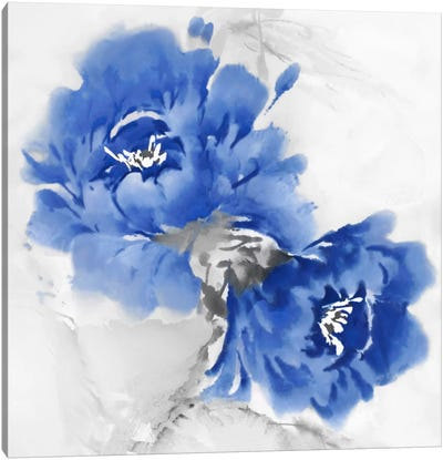 Flower Bloom In Indigo I Canvas Art Print