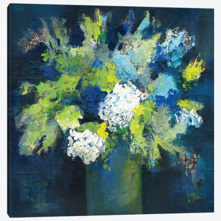 Bleu 3-Piece Canvas #JET11} by Jettie Roseboom Canvas Print