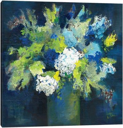 Bleu Canvas Art Print