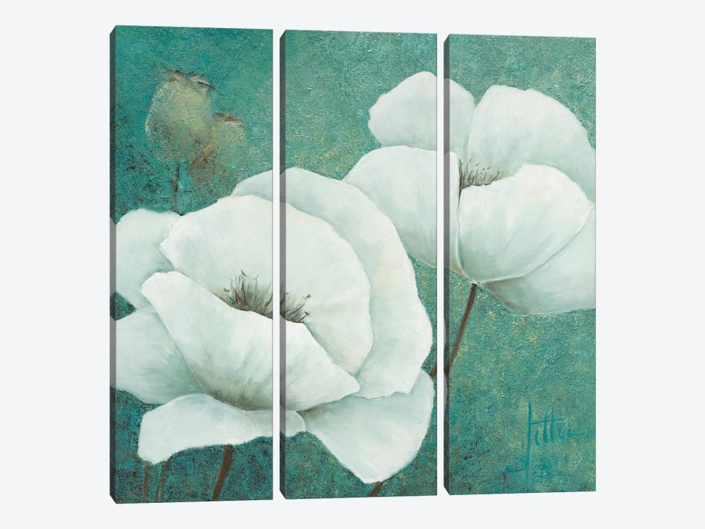 Flora II 3-piece Canvas Art Print