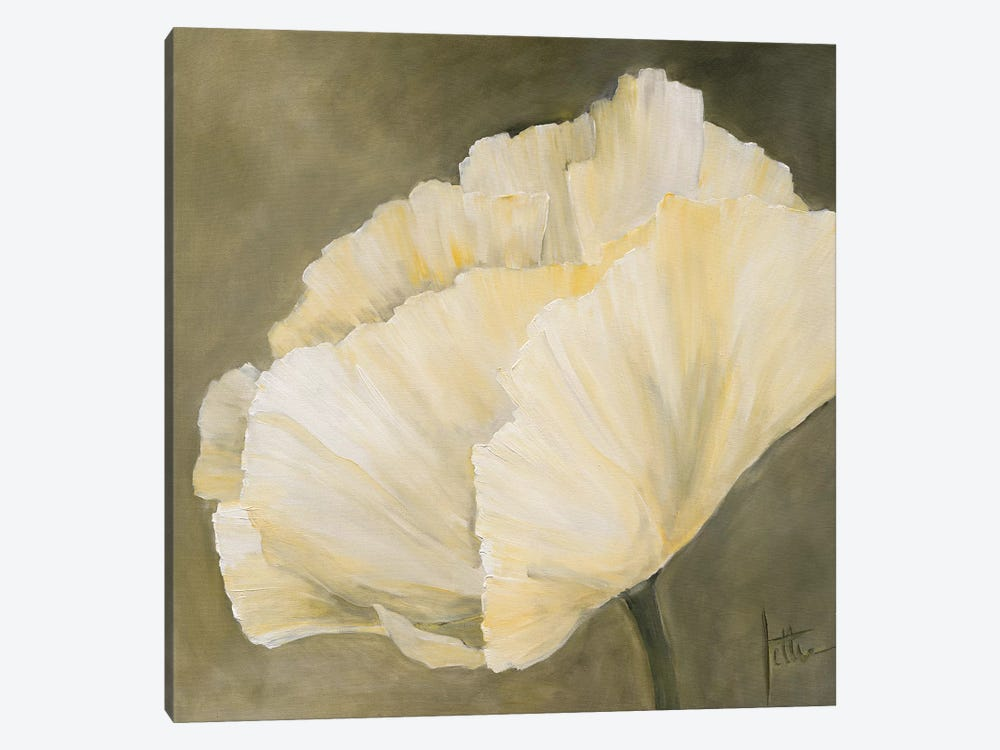 Poppy In White III by Jettie Roseboom 1-piece Art Print