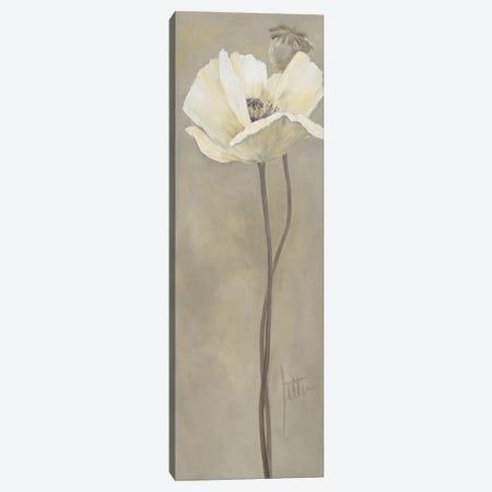 Poppy In White V Canvas Print #JET22} by Jettie Roseboom Canvas Wall Art