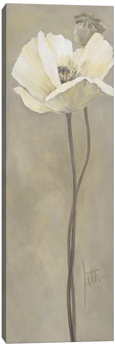 Poppy In White V Canvas Art Print