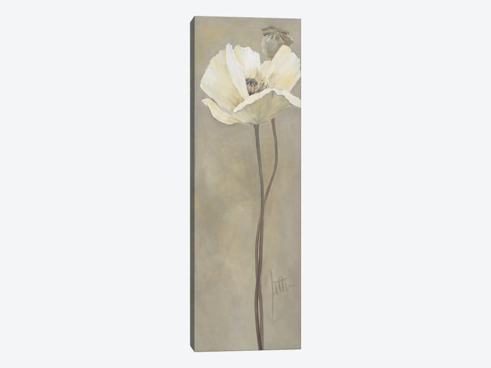 Poppy In White V by Jettie Roseboom 1-piece Canvas Print