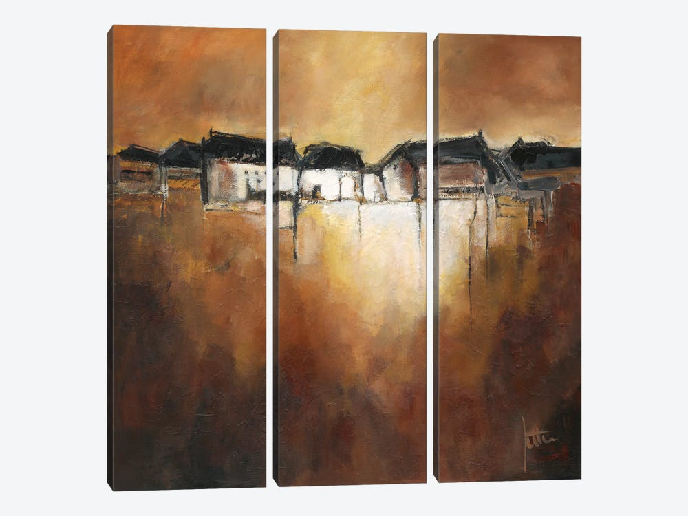 Restful Scene III by Jettie Roseboom 3-piece Canvas Wall Art