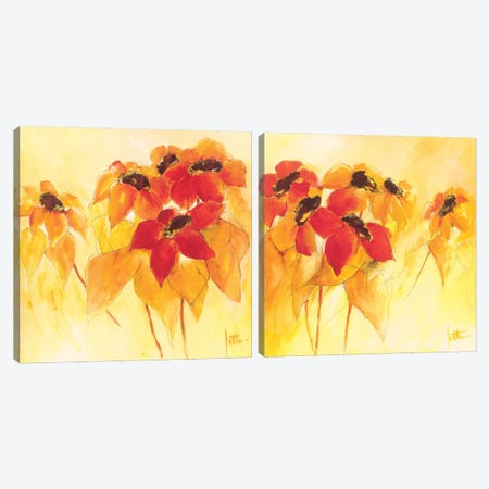 Sunshiny Diptych Canvas Print Set #JET2HSET001} by Jettie Roseboom Canvas Art