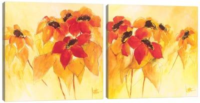 Sunshiny Diptych Canvas Art Print