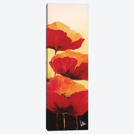 Three Red Poppies I Canvas Print #JET32} by Jettie Roseboom Canvas Print