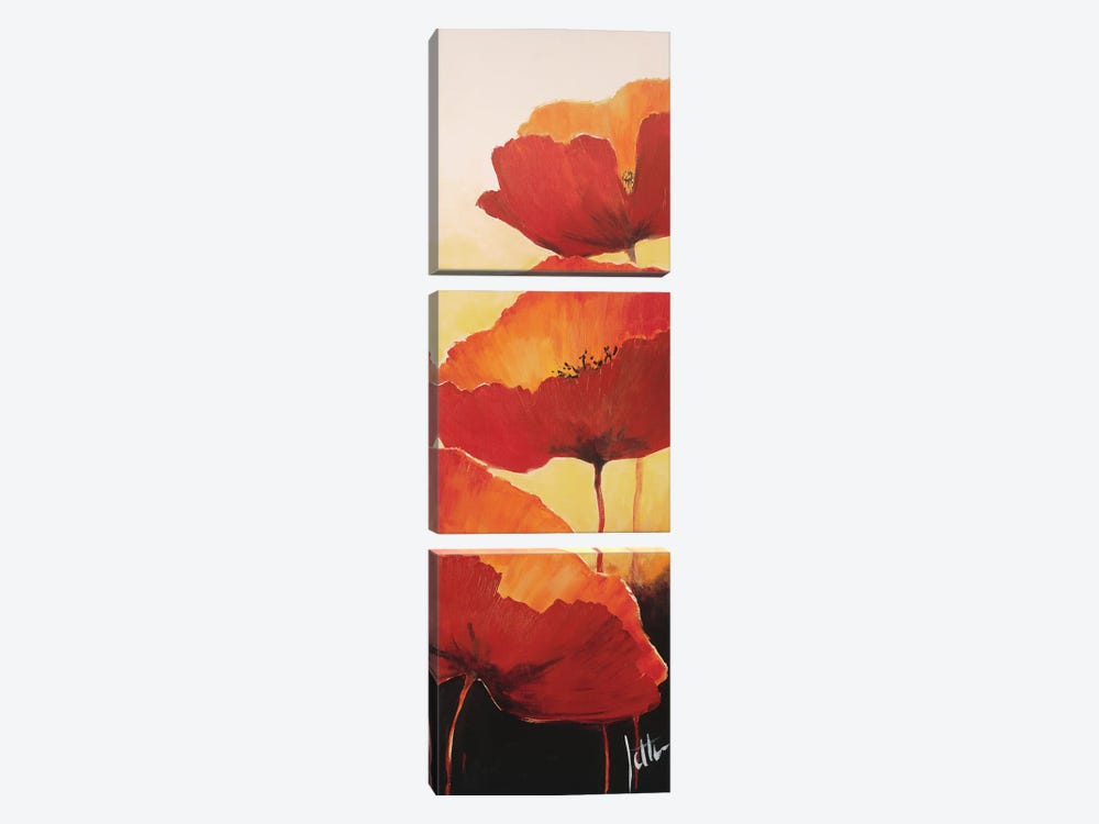 Three Red Poppies II by Jettie Roseboom 3-piece Art Print
