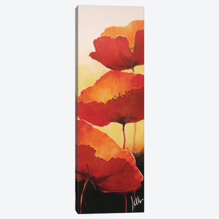 Three Red Poppies II Canvas Print #JET33} by Jettie Roseboom Art Print