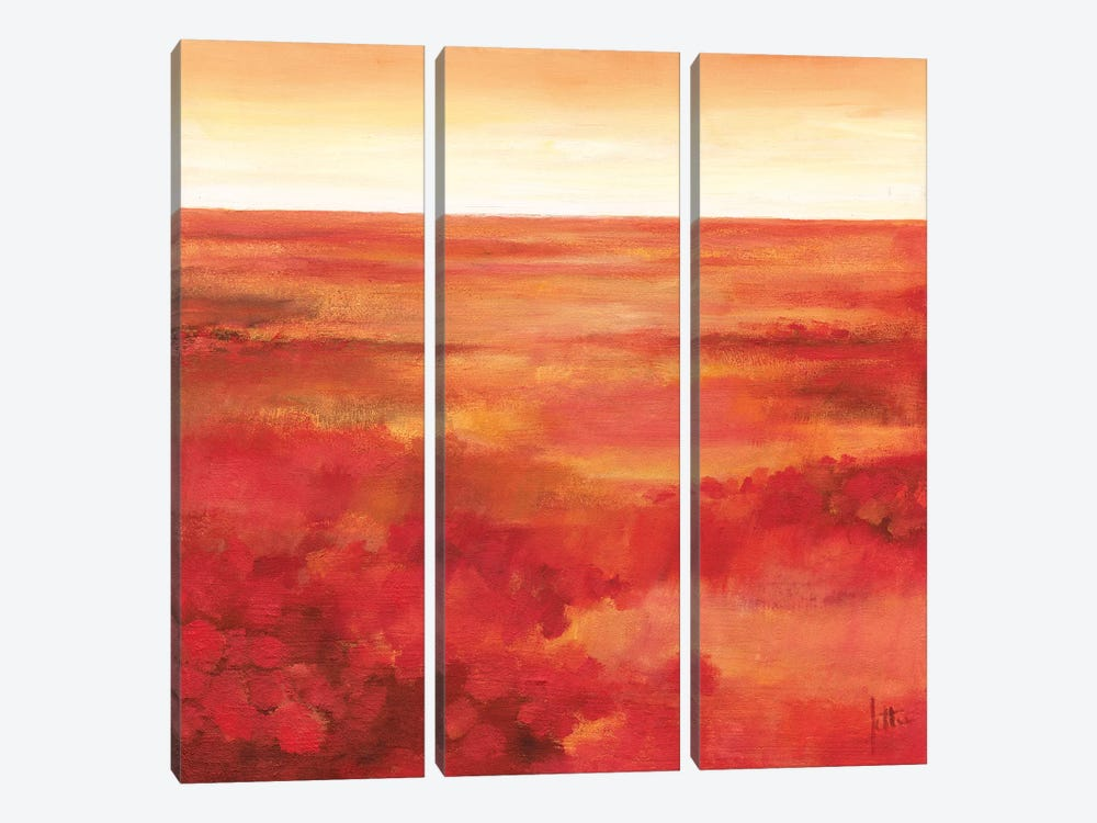 Wild Flowers I by Jettie Roseboom 3-piece Canvas Wall Art