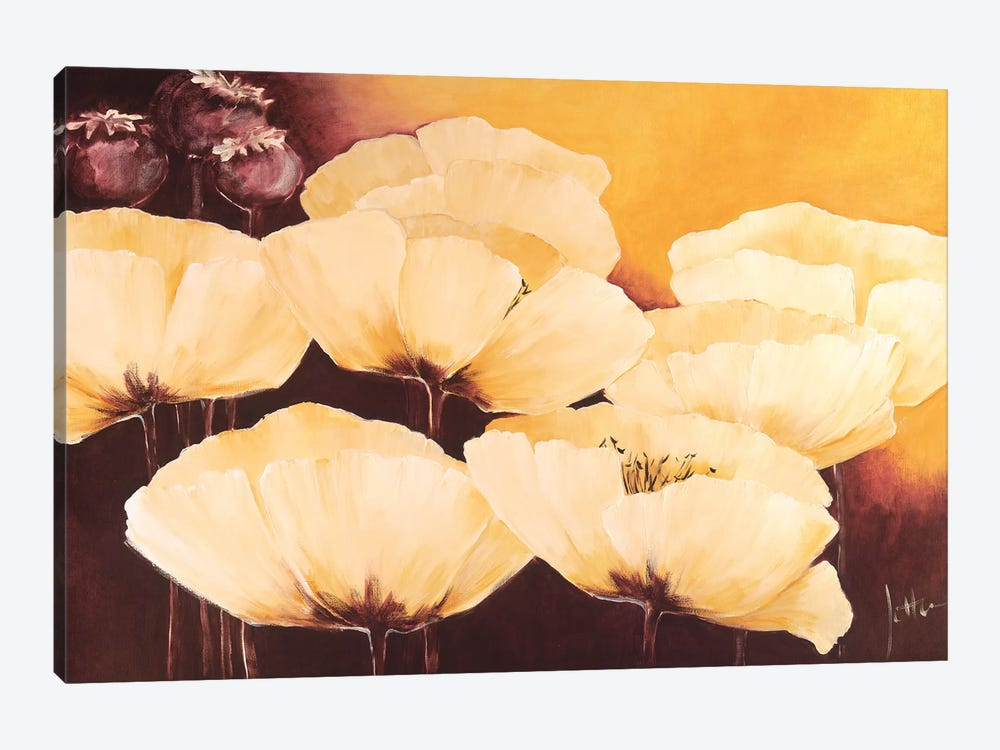 Yellow Poppies I by Jettie Roseboom 1-piece Canvas Art